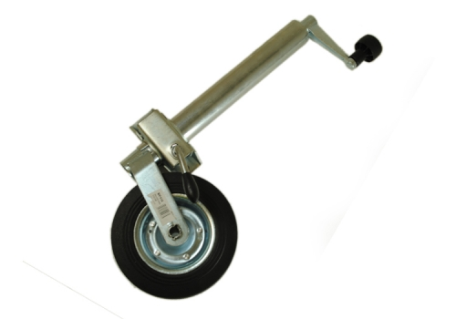JOCKEY WHEEL ASSEMBLY - 48MM - SOLID WHEEL - WITH CLAMP