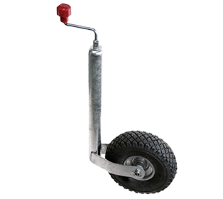ALKO JOCKEY WHEEL ASSEMBLY - 48MM - PNEUMATIC TYRE