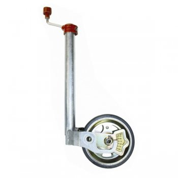 ALKO JOCKEY WHEEL ASSEMBLY - 48MM - HARD TYRE - WITH LOAD INDICATOR