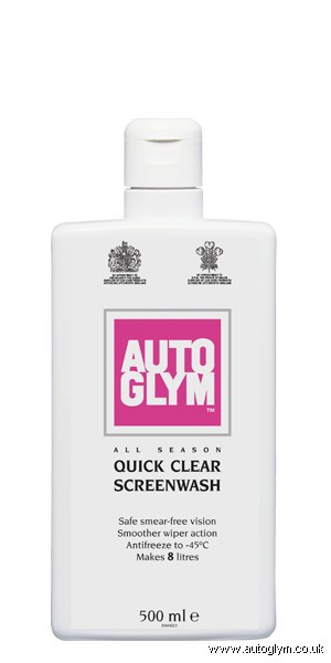 AUTOGLYM ALL SEASON QUICK CLEAR SCREENWASH 500ML
