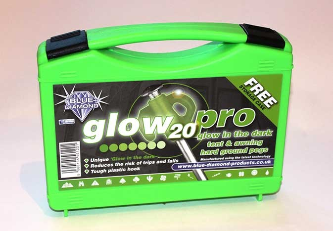 HARD GROUND PEG - GLOW - BOX OF 20