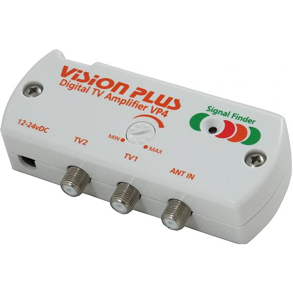 Digital Cable Signal Amplifier : Vision plus digital tv amplifier with signal finder vp